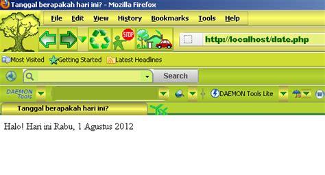 S A Tanggal php membuat tanggal hari ini green the world