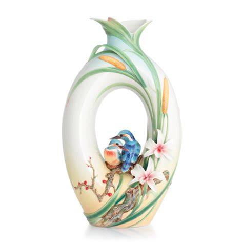 franz vase franz collection kingfisher large vase limited edition