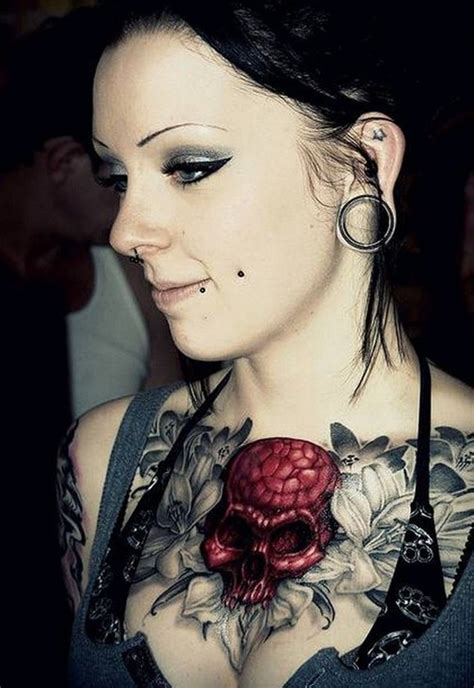 feminine skull tattoo designs 50 cool skull tattoos designs pretty designs