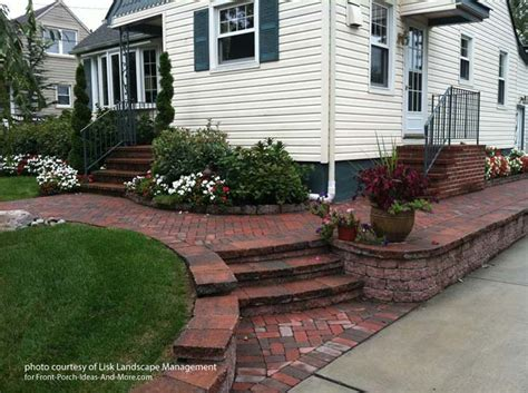 front yard brick wall front yard landscape designs with before and after pictures