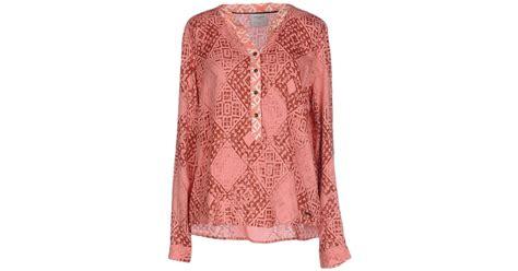 Blouse Rajut Import Burberry Pastel Blouse vero moda blouse in pink lyst