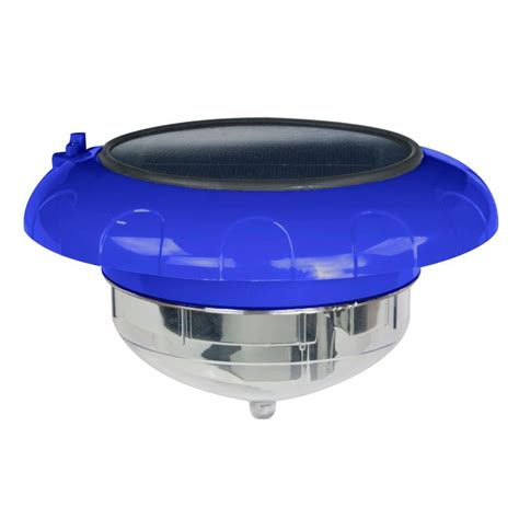 diy floating pool lights blue wave evolution floating led solar pool light na4193