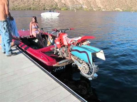 motor boat bike dirt bike boat canyon lake az youtube