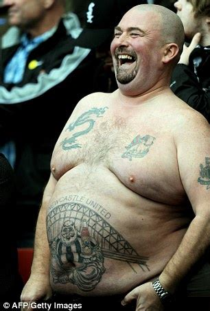 tattoo newcastle manchester united fans shows off legends tattoo but how