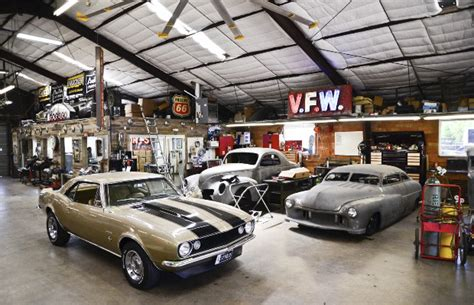 cool car garages inside austin speed shop america s coolest custom car