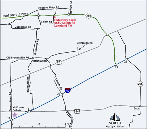 map to hideaway farm canine academy