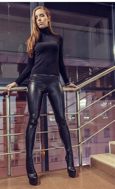 woman style leather images  pinterest