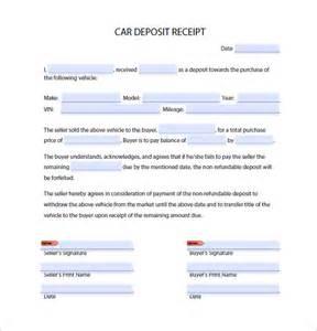 Rental Deposit Receipt Template by Deposit Receipt Template 9 Free Word Excel Pdf Format