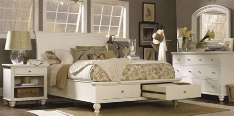 storehouse bedroom furniture cambridge sleigh storage bedroom set in brown cherry aspen