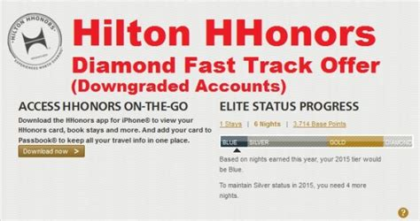 hilton honors diamond status hilton hhonors fast track to diamond 2014 after status