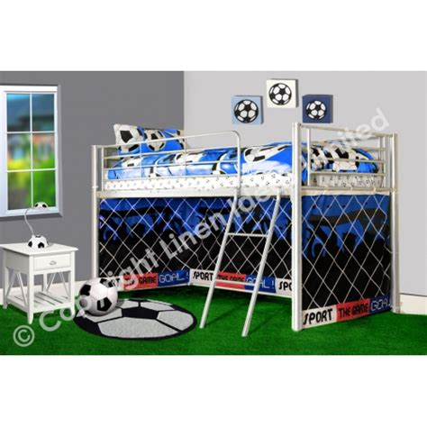 Football Tent For Mid Sleeper by Football Metal Bunk Bed Mid Sleeper Cabin Blue Single