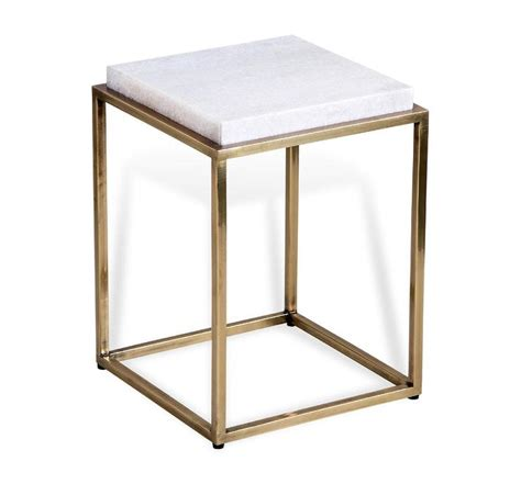 White Side Tables Ritz Gold And White Side Table Design By Interlude Home