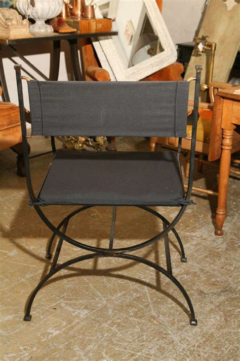 Indoor Outdoor Dining Chairs Set Of 8 Curule Iron Indoor Outdoor Dining Chairs At 1stdibs
