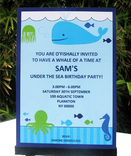 Under The Sea Birthday Party Printables The Sea Birthday Invitation Template