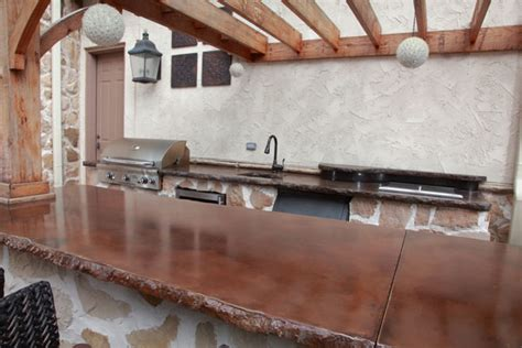 Concrete Bar Countertops by Klein S Lawn Landscaping Hardscapes Concrete Concepts