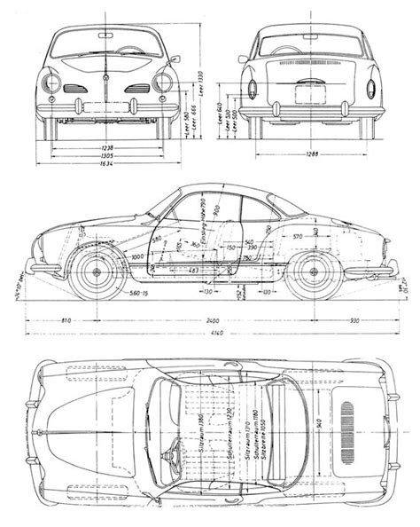 Karmann Ghia Blueprint   Volkswagen   Pinterest   Search