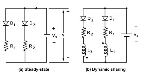 diodes in parallel series and parallel connected diodes electrical engineering community