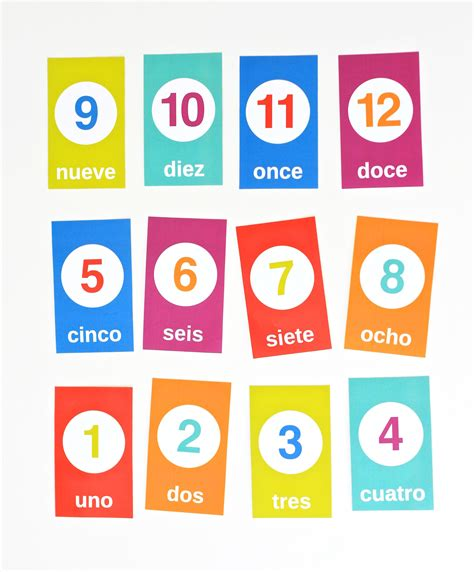 cute printable number cards printable spanish counting flashcards creative