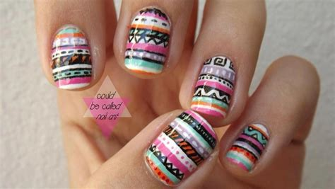 aztec pattern nail art beautiful nail art for girls notonlybeauty