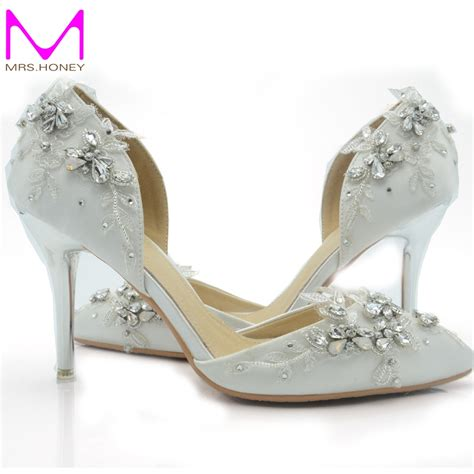 comfortable wedding shoes for bride aliexpress com buy 2016 handcraft white satin bride