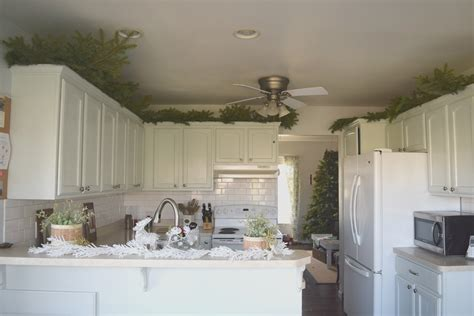 Greenery Above Kitchen Cabinets | greenery above kitchen cabinets our house now a home
