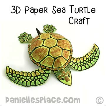 How To Make A Turtle Out Of Paper - turtle crafts and learning activities for