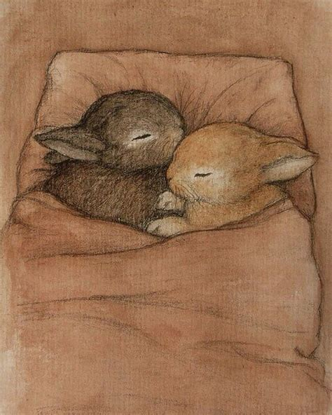 Bunny Sleeper by Sleeping Bunnies Fancyillustration
