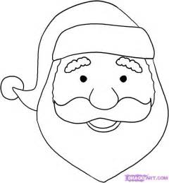 How to draw a santa face step by step christmas stuff seasonal