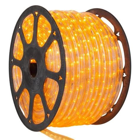 yellow rope light led yellow rope light 1 2 inch 150 ft yard outlet