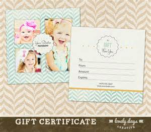 Gift Certificate Template For Photographers by Photography Gift Certificate Template For By