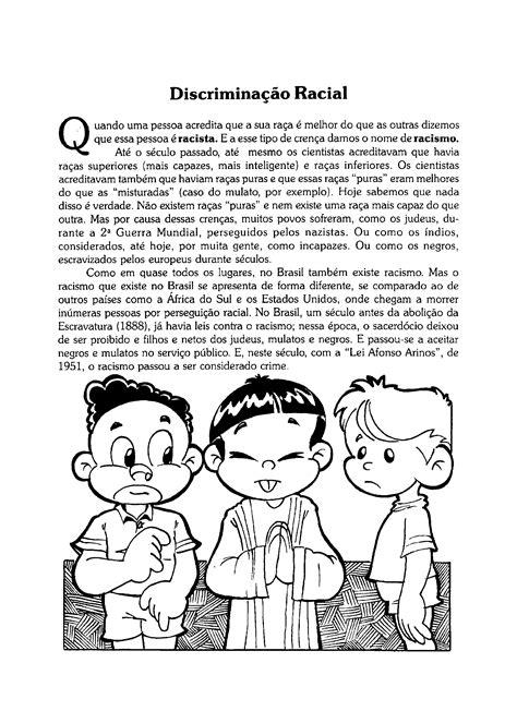 Textos sobre a Discriminação Racial para imprimir - Só