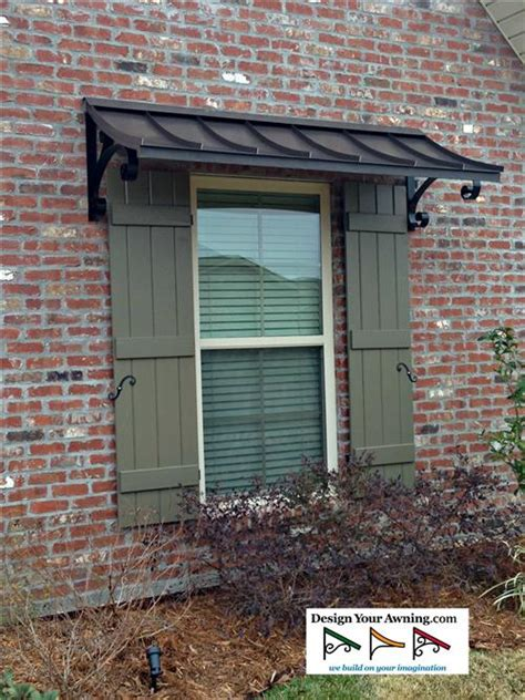 exterior metal window awnings the concave copper awning window trellis pinterest