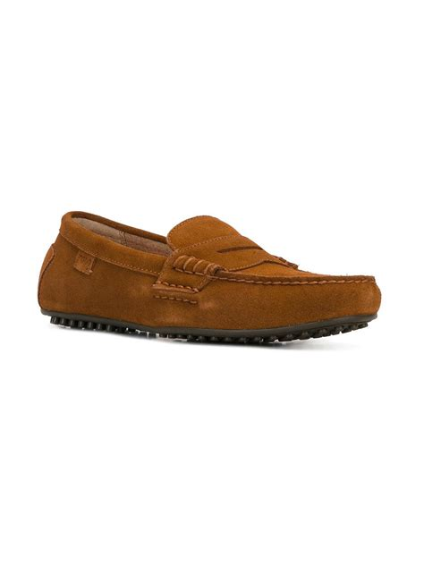 brown polo loafers polo ralph classic loafers in brown for