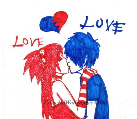 emo couple wallpaper hd emo love couples hd wallpapers and pictures chainimage