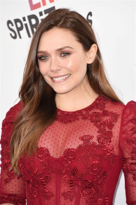hollywood actress elizabeth elizabeth olsen hot photos in transperant red dress