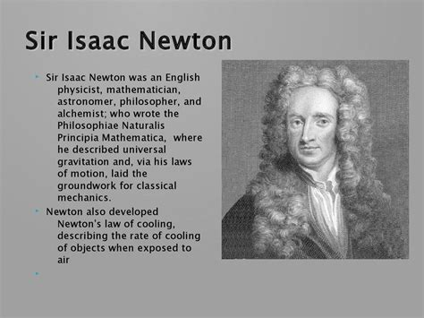 great britons sir isaac newton the man who laid the foundations of modern science famous scientists online presentation