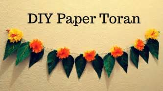 How To Make Paper Toran - diwali special diy paper toran tissue paper flower toran