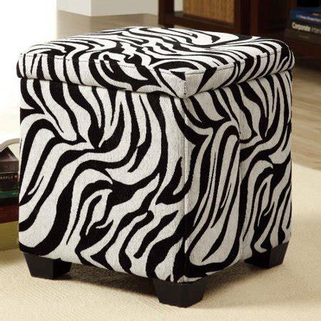 zebra storage ottoman zebra fabric storage ottoman walmart