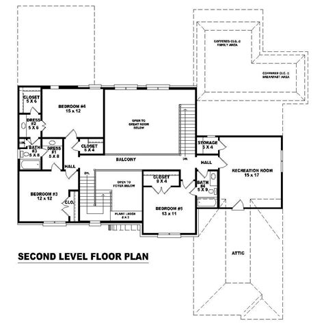second story floor plans french house plans home design su b2800 1309 717 f