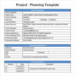 Templates For Projects by Project Planning Template 5 Free For Word