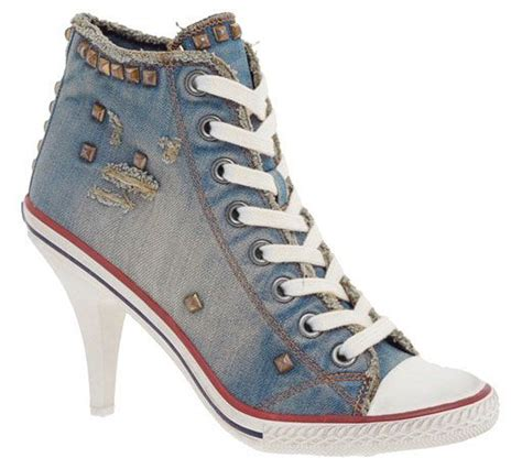 convers high heels converse heels denim my of style