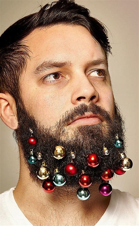 decorate beard for christmas these guys created beard ornaments to decorate your face