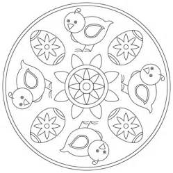 easter mandala with birds and eggs coloring page free easter mandala with chick and egg coloring page free