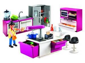 playmobil de construction cuisine avec ilot