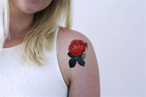 temporary tattoo rose small temporary temporary tattoos by