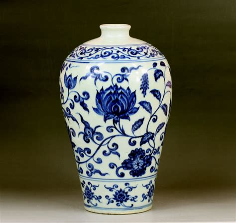 Qing Dynasty Vase Value Ming Dynasty Blue And White Porcelain Plum Vase For Sale