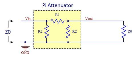 resistor pi network pi resistor network calculator 28 images network calc pi network attenuator circuit pi