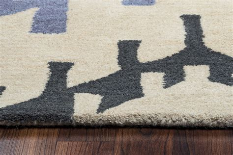 two gray rugs tumble loft tribal abstract wool area rug in gray brown blue 2 x 3