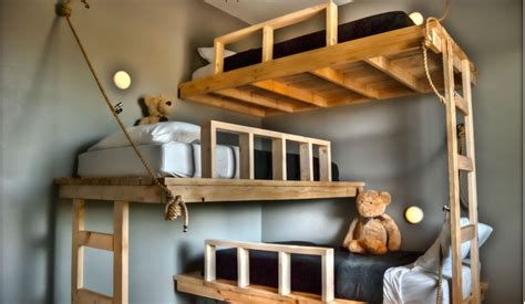 Shared Kids Room Designs For Three Or More Children Really Cool Bunk Beds