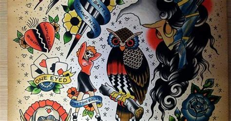 xam tattoo flash designs by ron henry wells for xam twin peaks tattoos
